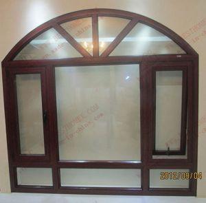 Economy Woodgrain Aluminium Casement Window (BHA-CWA27) pictures & photos