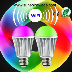 Bluetooth/WiFi/Remote RGBW 7W E27 LED Lamp pictures & photos