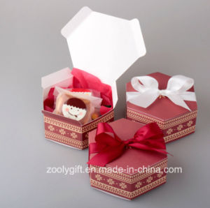 Hexagonal Printed Paper Cardboard Box for Candy Apple Cake pictures & photos