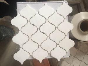 Carrara White Lantern Shaped Arabesque Baroque Mosaic Tile pictures & photos