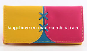 Fashion PU with Color Combination Wallet / Fashion Wallets (KCW20) pictures & photos