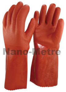 Nmsafety Long Cuff Rough Finish PVC Fishing Work Glove pictures & photos