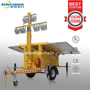 Mobile Light Tower with Solar Panel, Solar Light Tower 600W pictures & photos