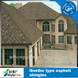 Gothic Type Fiberglass Asphalt Shingles for Roof Waterproofing and Decoration pictures & photos