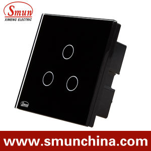 3 Gang Bs Touch Wall Switch, Remote Control Wall Socket 1500W 110-220V 16A pictures & photos