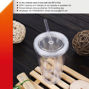 Doubles Walls Plastic Tumbler with Straw pictures & photos