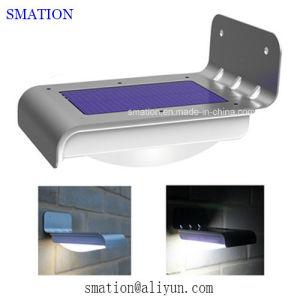 PIR Outside LED Lamp Metal Gate Infrared Sensor Solar Wall Light pictures & photos