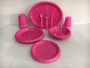 Party Supply Tableware Disposable Plastic Color Partyware