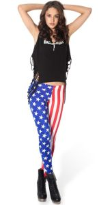 Fashion USA Flag Print Leggings for Women, American Flag Pants, Hot Sell USA Flag Print Tight Leggings for Fashion Girls pictures & photos