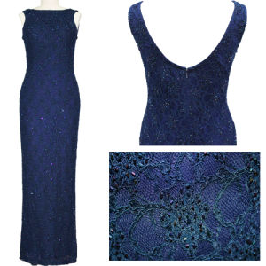 Noble Lace Beaded Evening Dress for Lady (2-073-150)