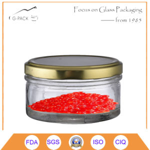Classic Vacuum Glass Container with Metal Cap for Caviar Canning pictures & photos