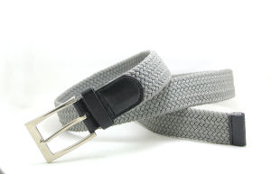 Classic Cotton Webbing Braided PU Fashion Belt Cky0314 pictures & photos