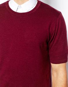 Wholesale O Neck Men′s Plain Red T Shirt pictures & photos