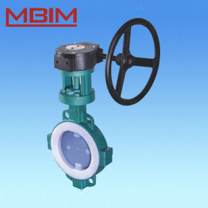 Fluorine Lined Butterfly Valve for Corrosive Fluid pictures & photos