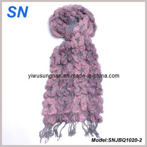 Fashion Skinny Stripe Checked Winter Warm Ruffle Bubble Scarves pictures & photos