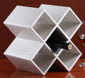 Trend Style PU Leather Wine Rack pictures & photos