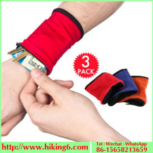 Wrist Wallet, Zippered Wrist Pouch 3 in 1, Wristbands Wallets pictures & photos