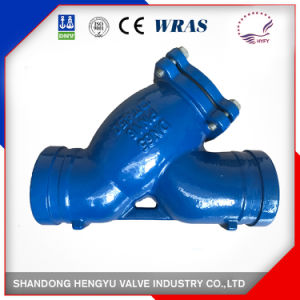 Cast Iron Filter with Groove End for Industrial Use pictures & photos