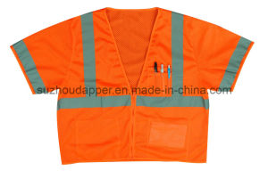 High Visibility Safety Vest Anst/Isea 107-2010 Class 3 Compliant (US024)
