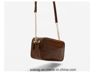 Fashion PU Crocodile Grain Crossbody Bag Metal Chain Bag pictures & photos
