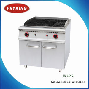 Ce Approved Commercial Stainless Steel Gas Lava Rock Grill pictures & photos