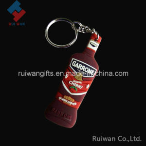 Bottle Shape 3D Soft PVC Keyring pictures & photos