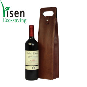 Fashion High Quality PU Leather Wine Bag pictures & photos