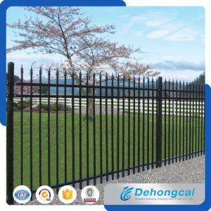 Ornamental Safety Wrought Iron Fence / Security Galvanized Steel Graden Fence pictures & photos