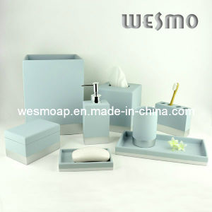 Soft Touch Polyresin Bathroom/Bath Accessories Set (WBP0235A) pictures & photos