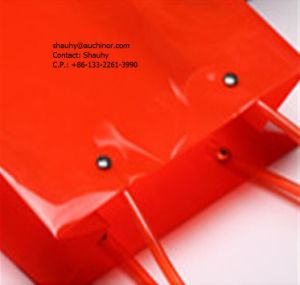 Portable PVC 1.5L Wine Cooler Plastic Bottle Holder Bag pictures & photos