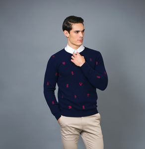 Men′s Fashion Cashmere Sweater 17brpv128 pictures & photos