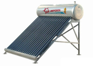 OEM Green Energy Non-Pressurized Solar Water Heater System with CE pictures & photos