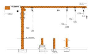 Truemax Tower Crane Hoist Crane (TCP7020) pictures & photos