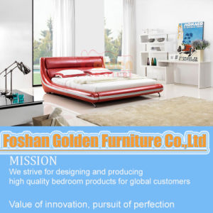 Red Color Leathe Bed for Girls pictures & photos