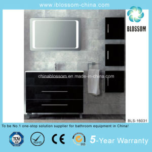 Black Three Drawer PVC Bathroom Vanity (BLS-16031) pictures & photos