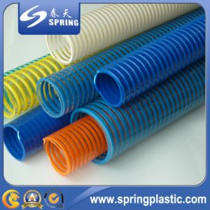 PVC Plastic Reinforced Spiral Suction Powder Garden Pipe Hose pictures & photos