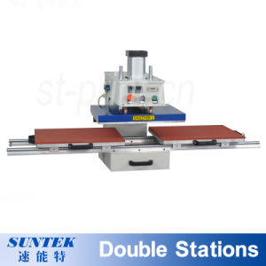 Pneumatic Double Stations T-Shirt Sublimation Heat Press Transfer Printing Machine pictures & photos