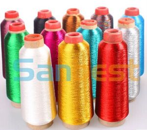 100% Polyester Single Yarn Metallic Embroidery Thread 150d/1 pictures & photos