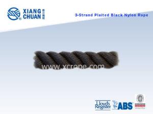 3-Strand Plaited Black Nylon Rope pictures & photos