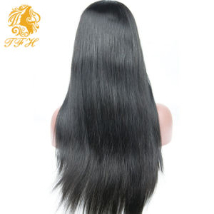 7A Full Lace Human Hair Wigs Brazilian Virgin Hair Straight Lace Front Human Hair Wigs for Black Women with Baby Hair Free Part pictures & photos