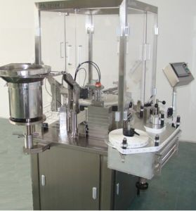 Plunger Rod Screwing and Labeling Machine for Filled and Closed Syringes (GPS 100-1A)