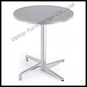 Bistro Used Stainless Steel Folding Round Table (SP-MT001) pictures & photos