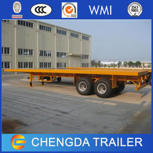 30ton Container Flatbed Trailer 2 Axle Container Semi Trailer pictures & photos