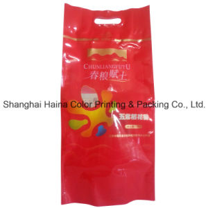 Large Plastic Compound Printing Food Packaging Handle Bag