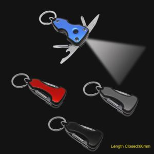 Multi Function Key Chain Tools with LED Torch (#668-BLK) pictures & photos