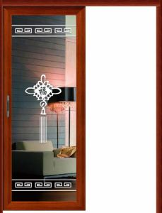 Aluminum +Glass Single Hanging Sliding Door Interior Doors pictures & photos