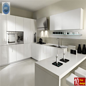 Home Furniture New Design Lacquer Bake Kitchen Cabinet pictures & photos