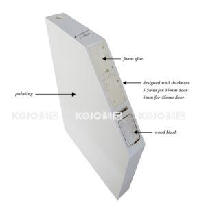 Eco-Friendly Fire-Resistant WPC Interior Soundproof Door for Bedroom (YM-033) pictures & photos