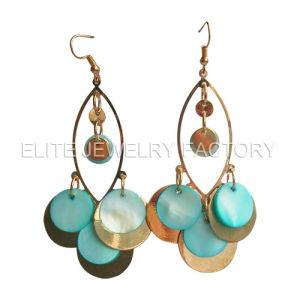 Fashion Jewelry-Copper & Shell Earrings (E1552)