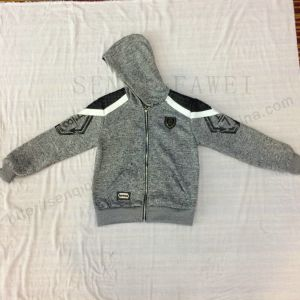 Fleece Boy Design Coat Clothes with Hood in Kids Sport Clothes Sq-6450 pictures & photos